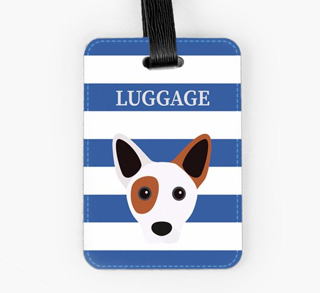 Cojack Luggage Tag with Icon on Stripes