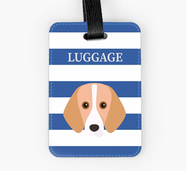 Foxhound Luggage Tag with Icon on Stripes