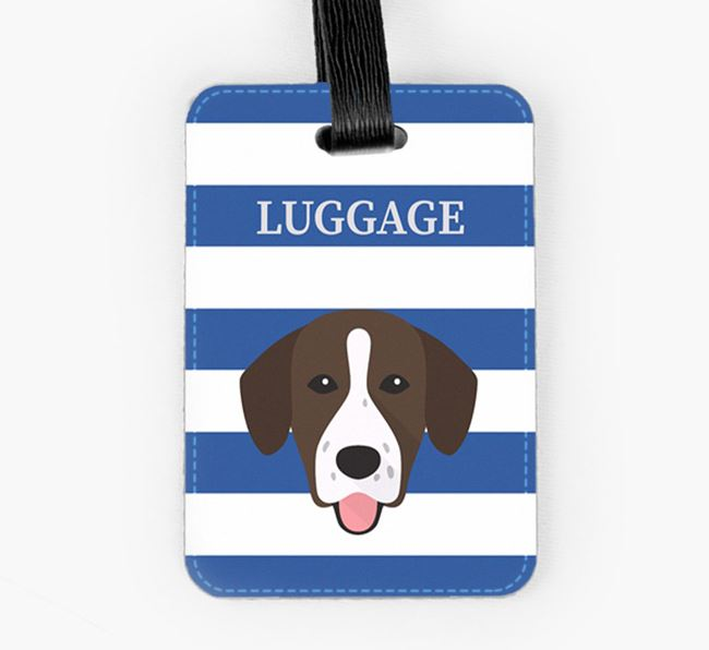 Springador Luggage Tag with Icon on Stripes