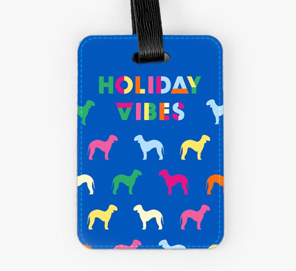 Bedlington Terrier Luggage Tag Front