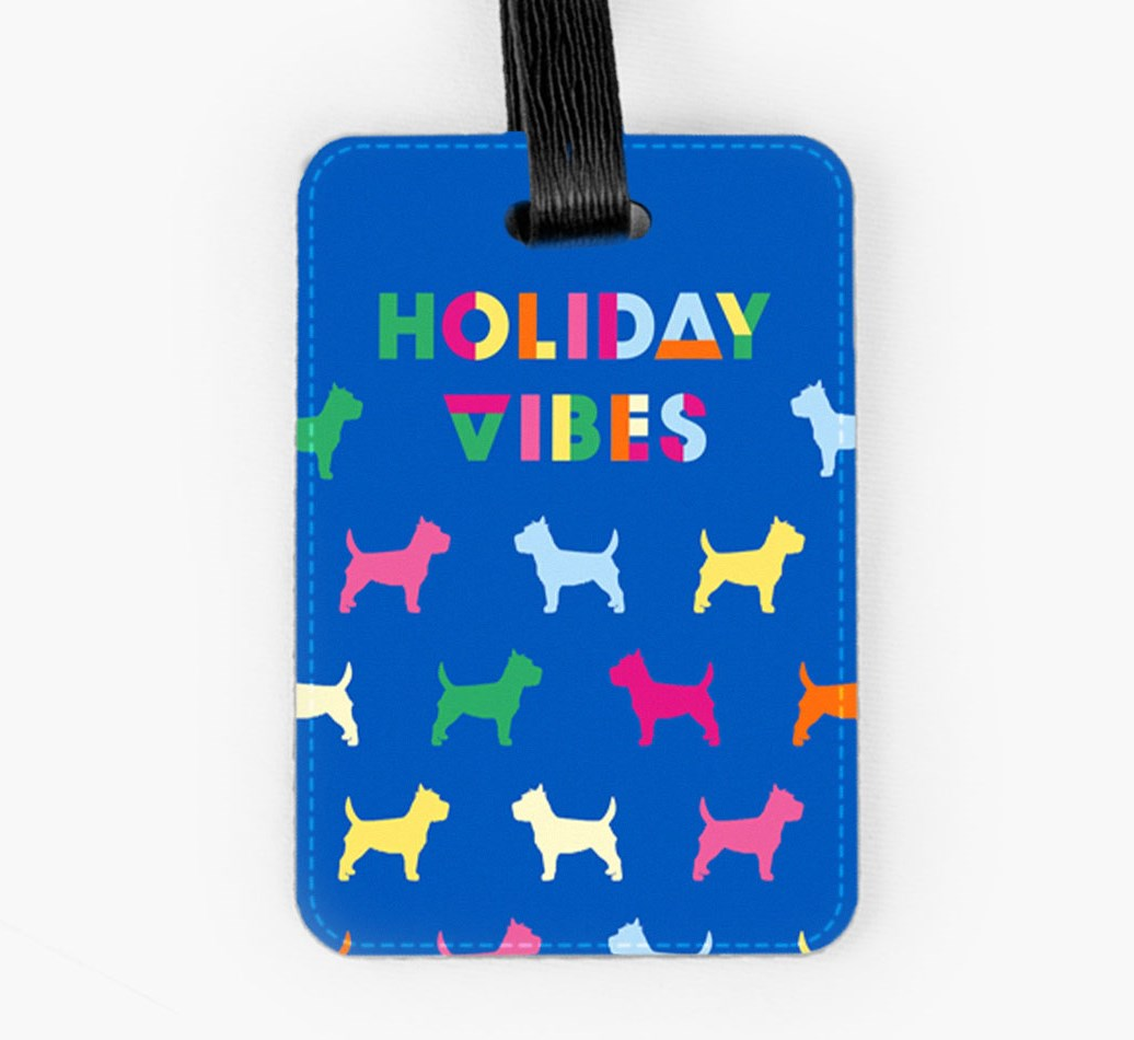 Cairn Terrier Luggage Tag Front