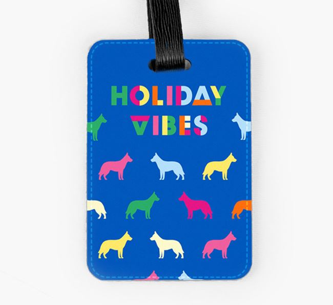 Luggage Tag with Colourful German Shepherd Silhouettes