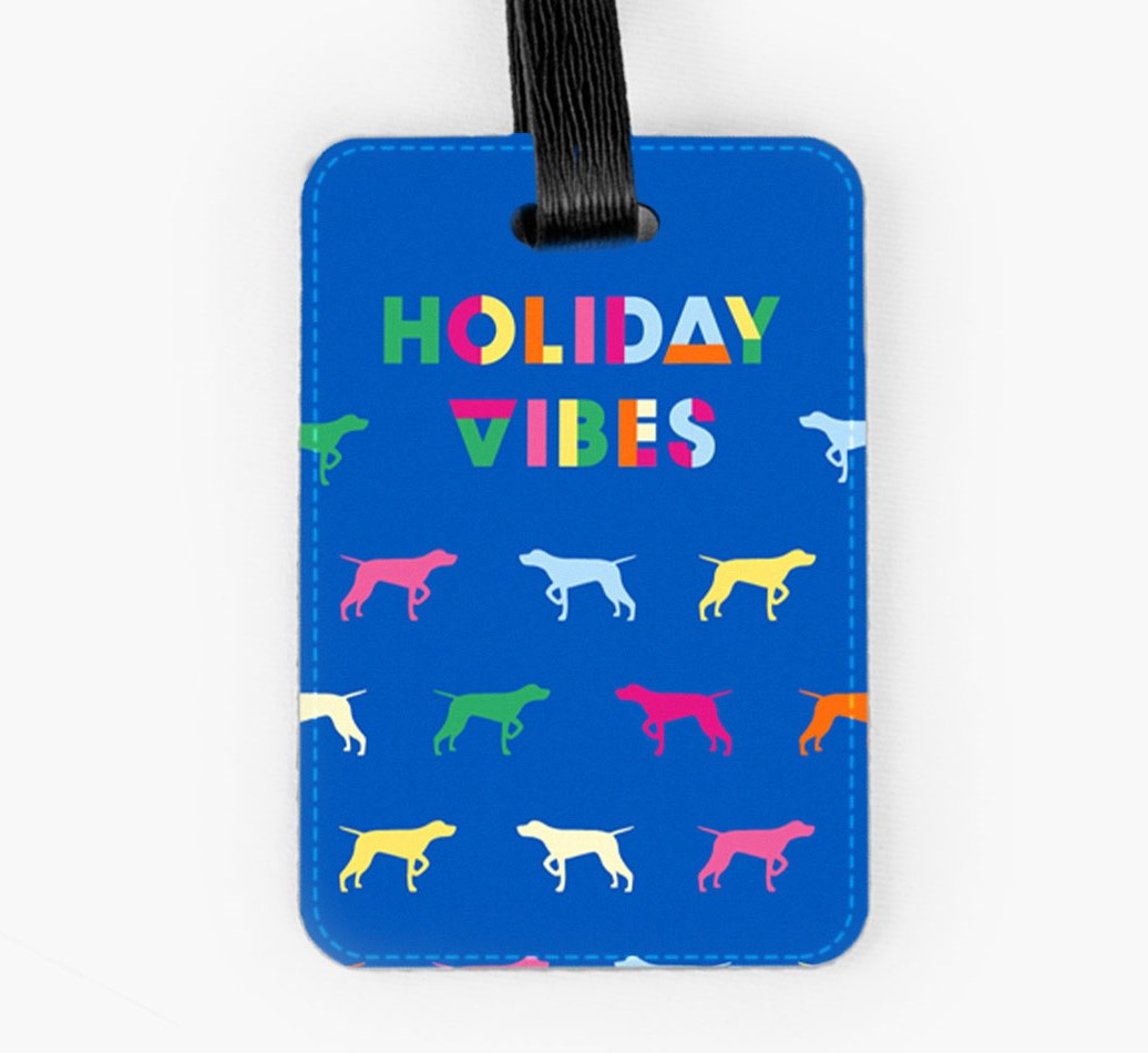 German Shorthaired Pointer Luggage Tag Front