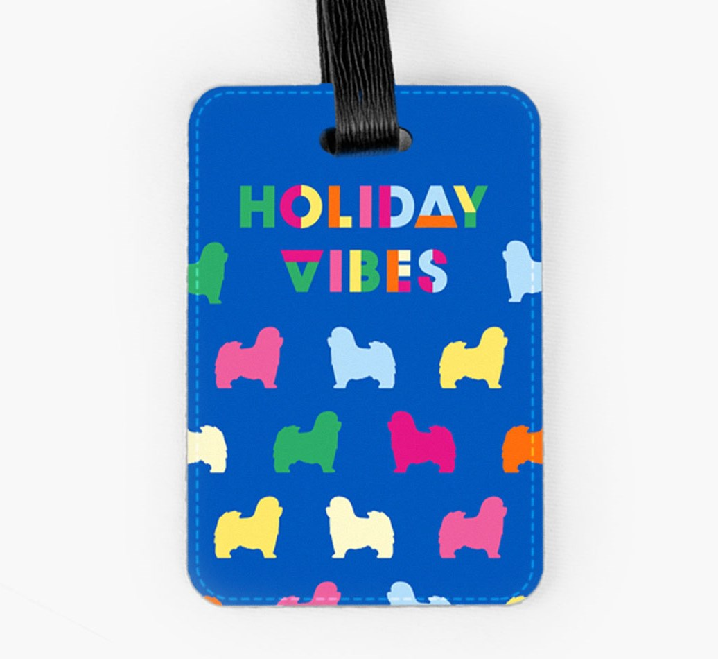 Havanese Luggage Tag Front