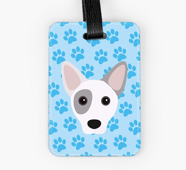 Luggage Tag with Cojack Icon on Paw Prints
