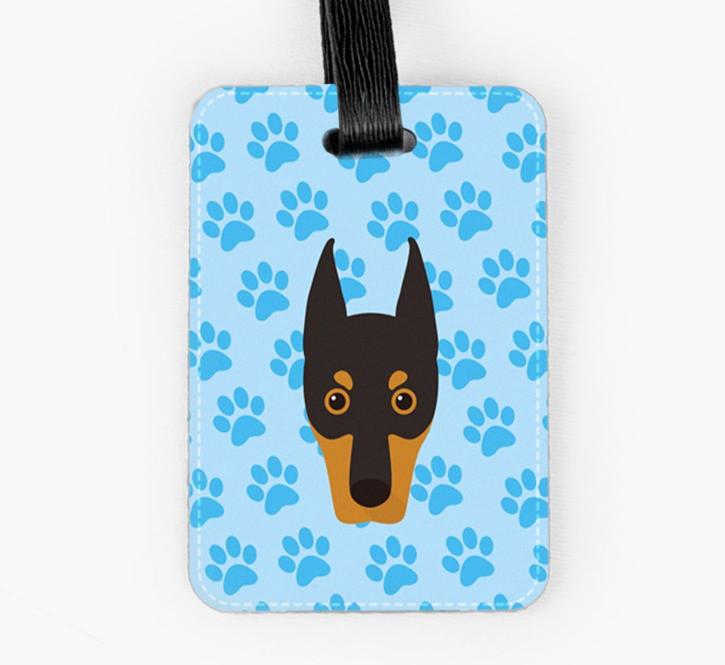 Dobermann Luggage Tag Front