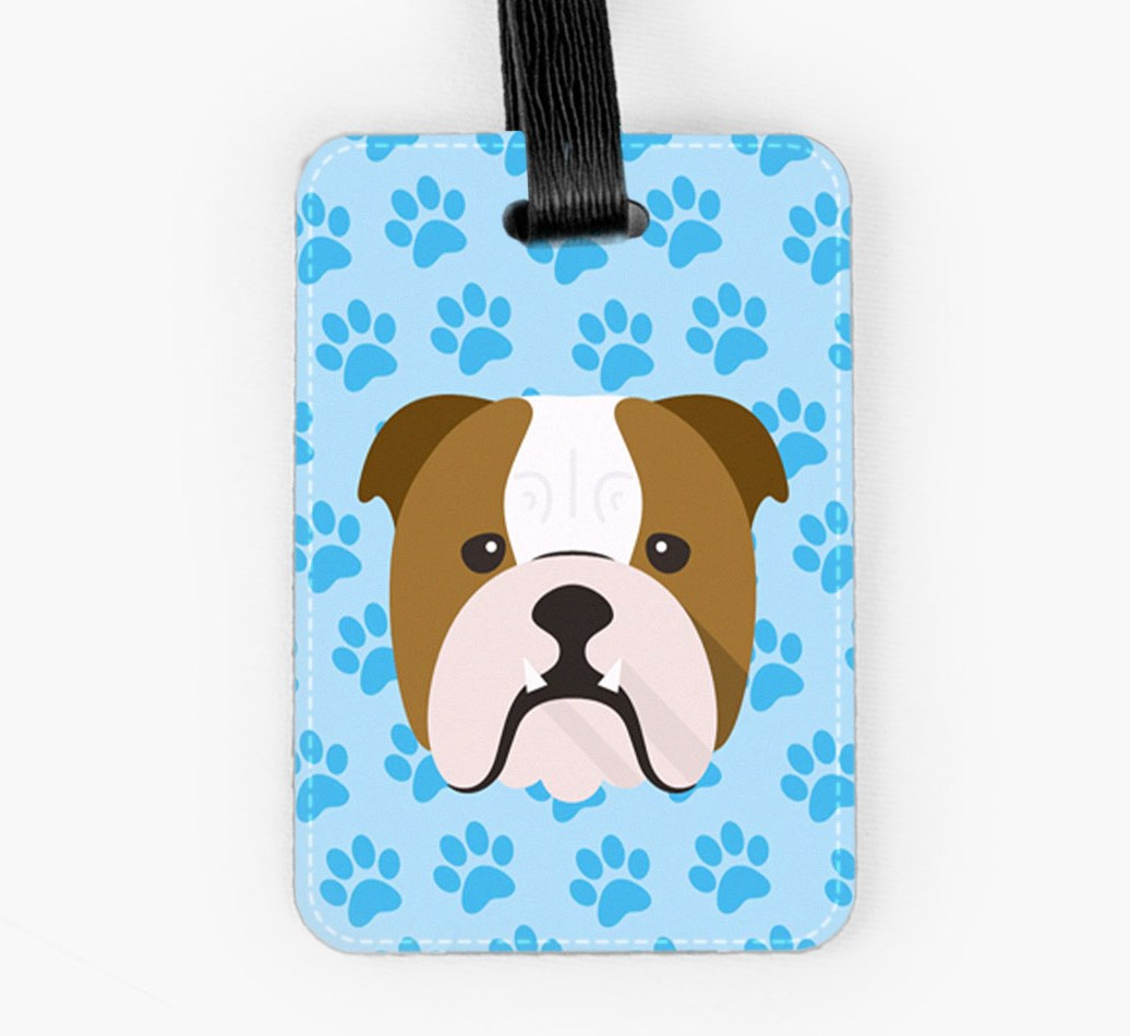 English Bulldog Luggage Tag Front