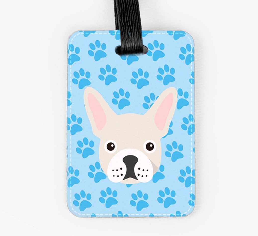 French Bulldog Luggage Tag Front