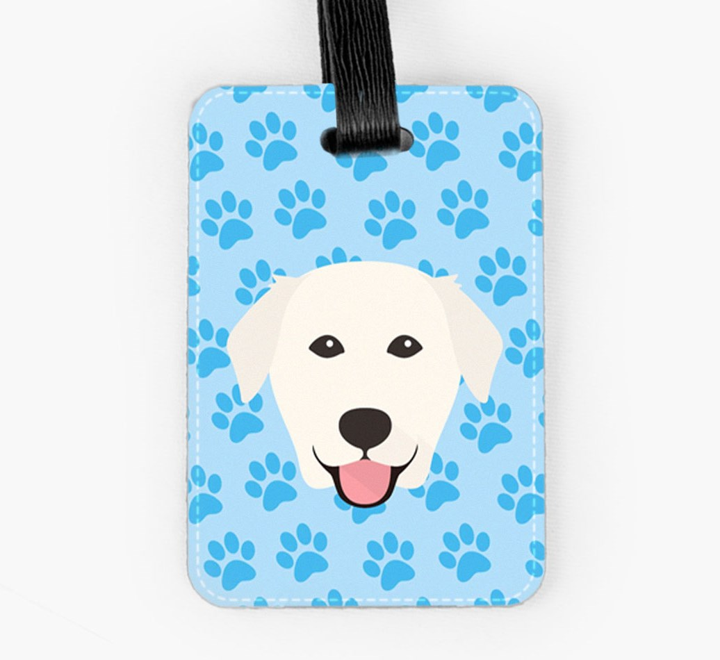 Golden Labrador Luggage Tag Front