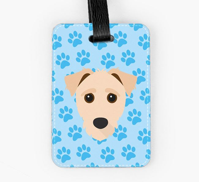 Luggage Tag with Jack-A-Poo Icon on Paw Prints