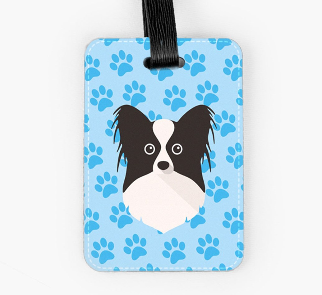 Papillon Luggage Tag Front