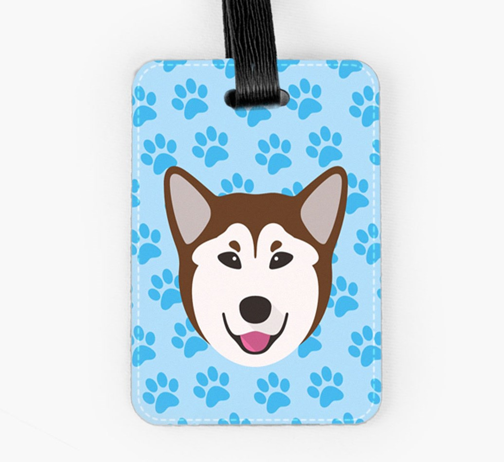 Rescue Dog Luggage Tag Front