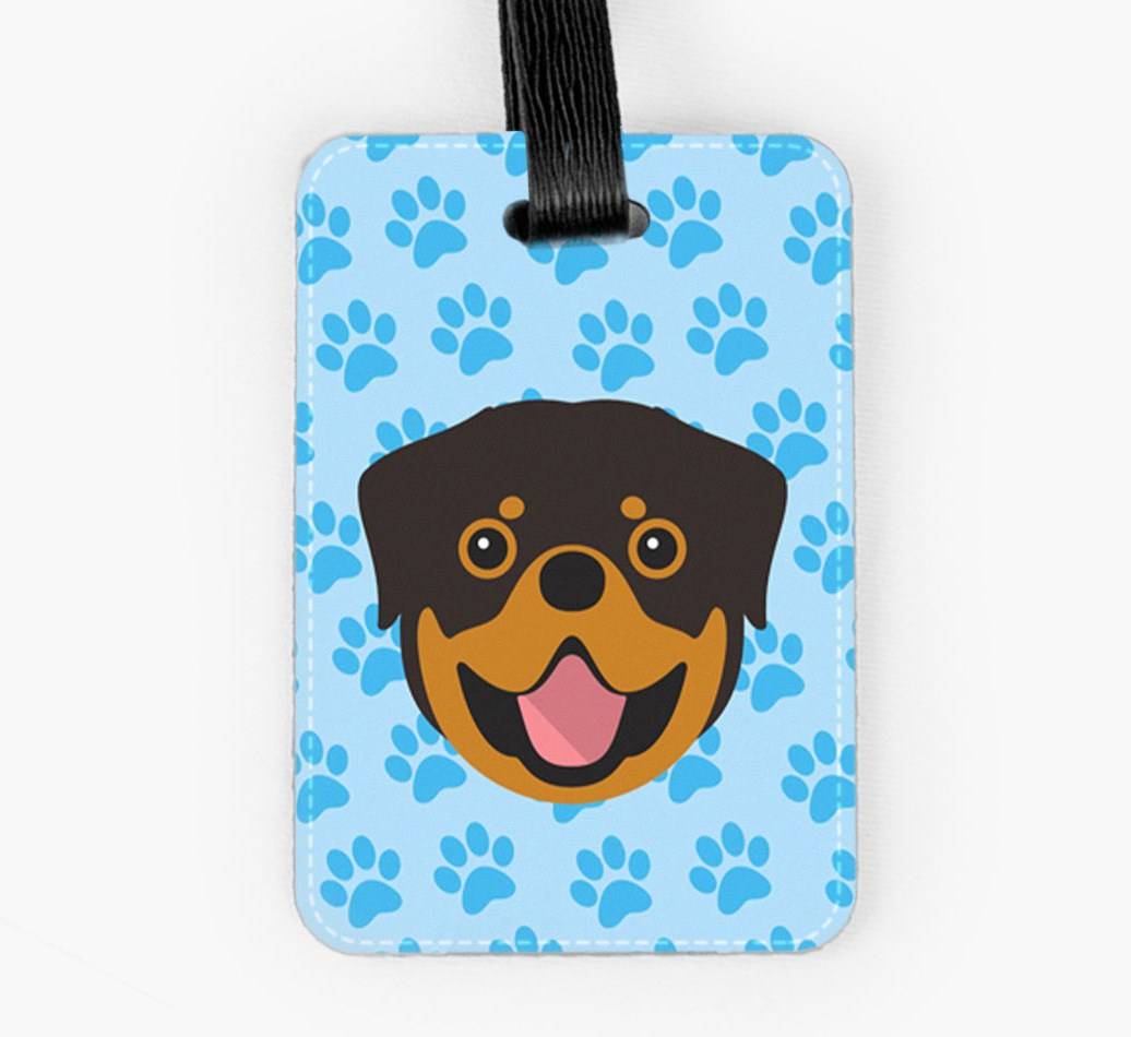 Rottweiler Luggage Tag Front