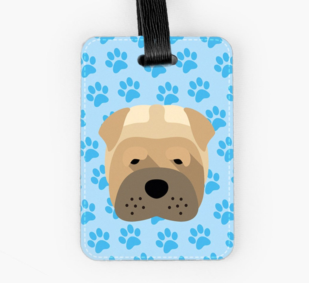 Shar Pei Luggage Tag Front