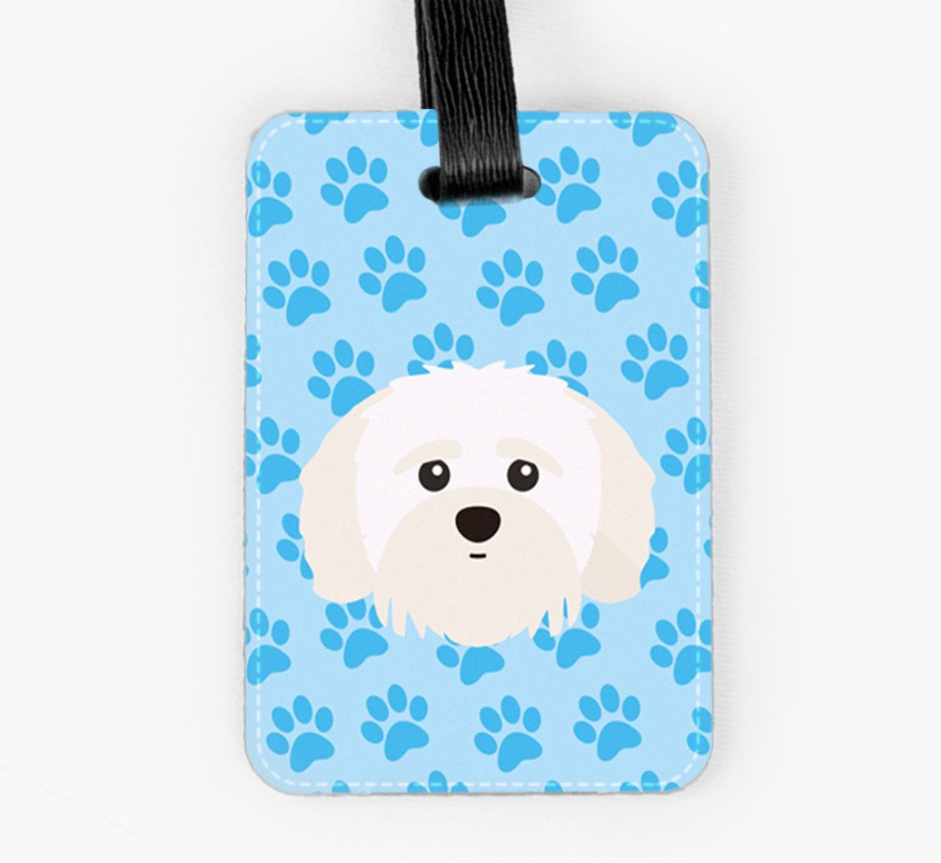 Shih-poo Luggage Tag Front