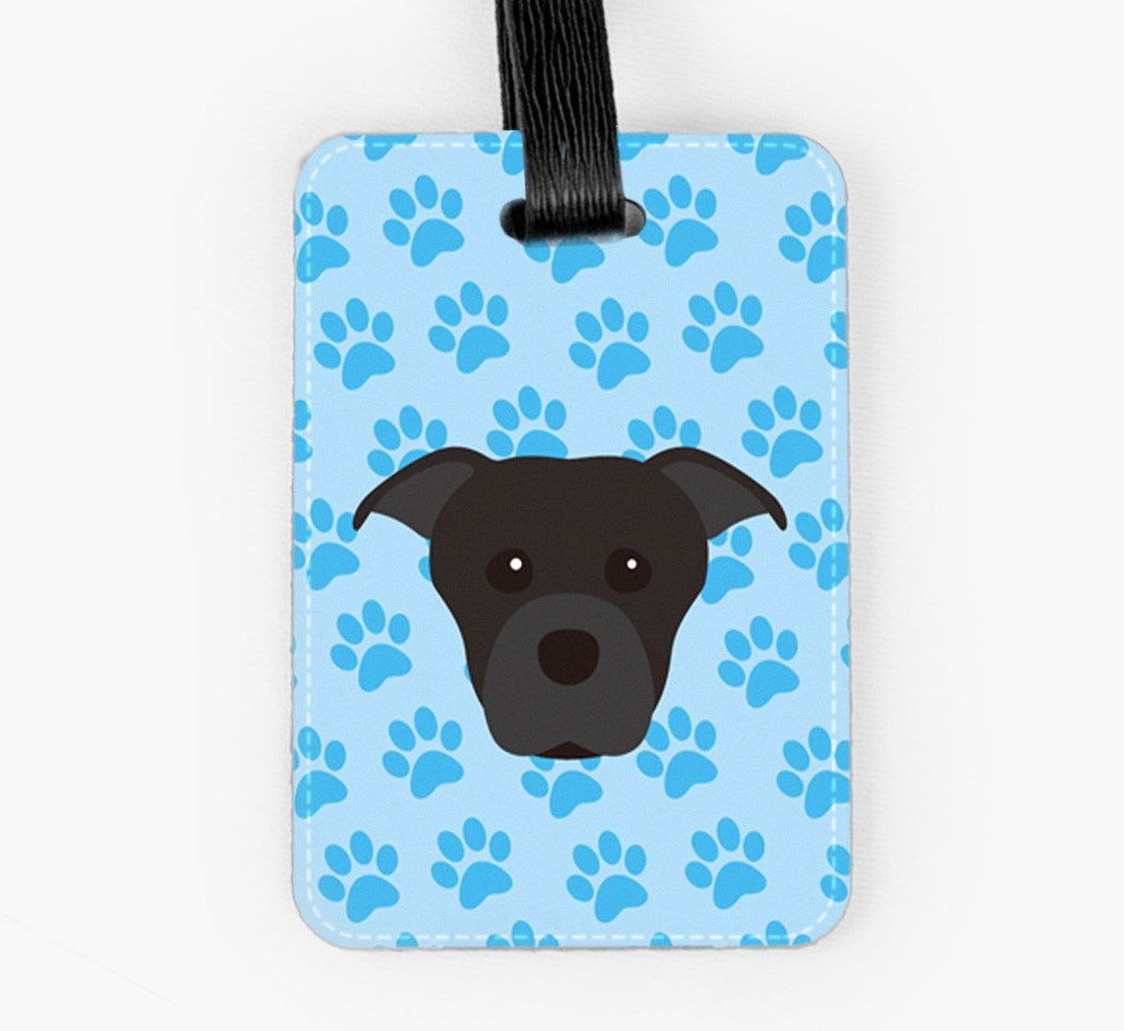 Staffordshire Bull Terrier Luggage Tag Front