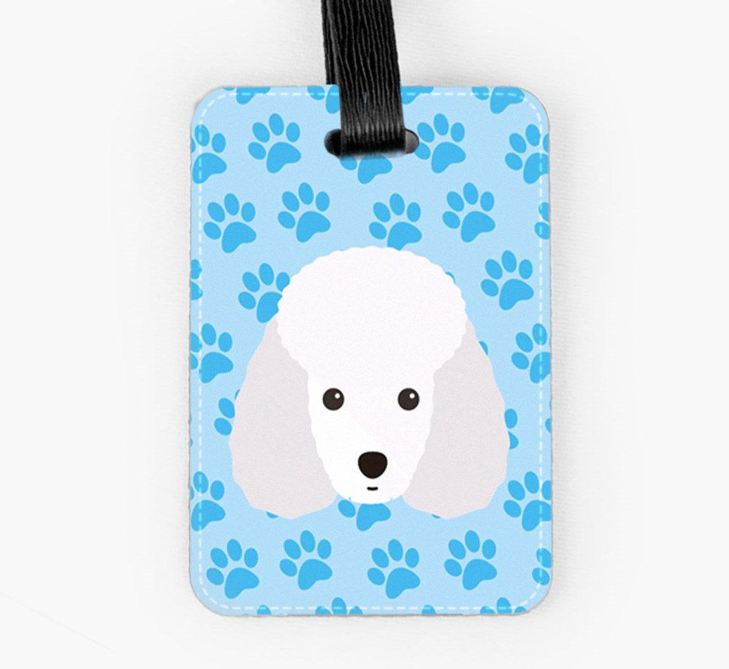 Toy Poodle Luggage Tag Front