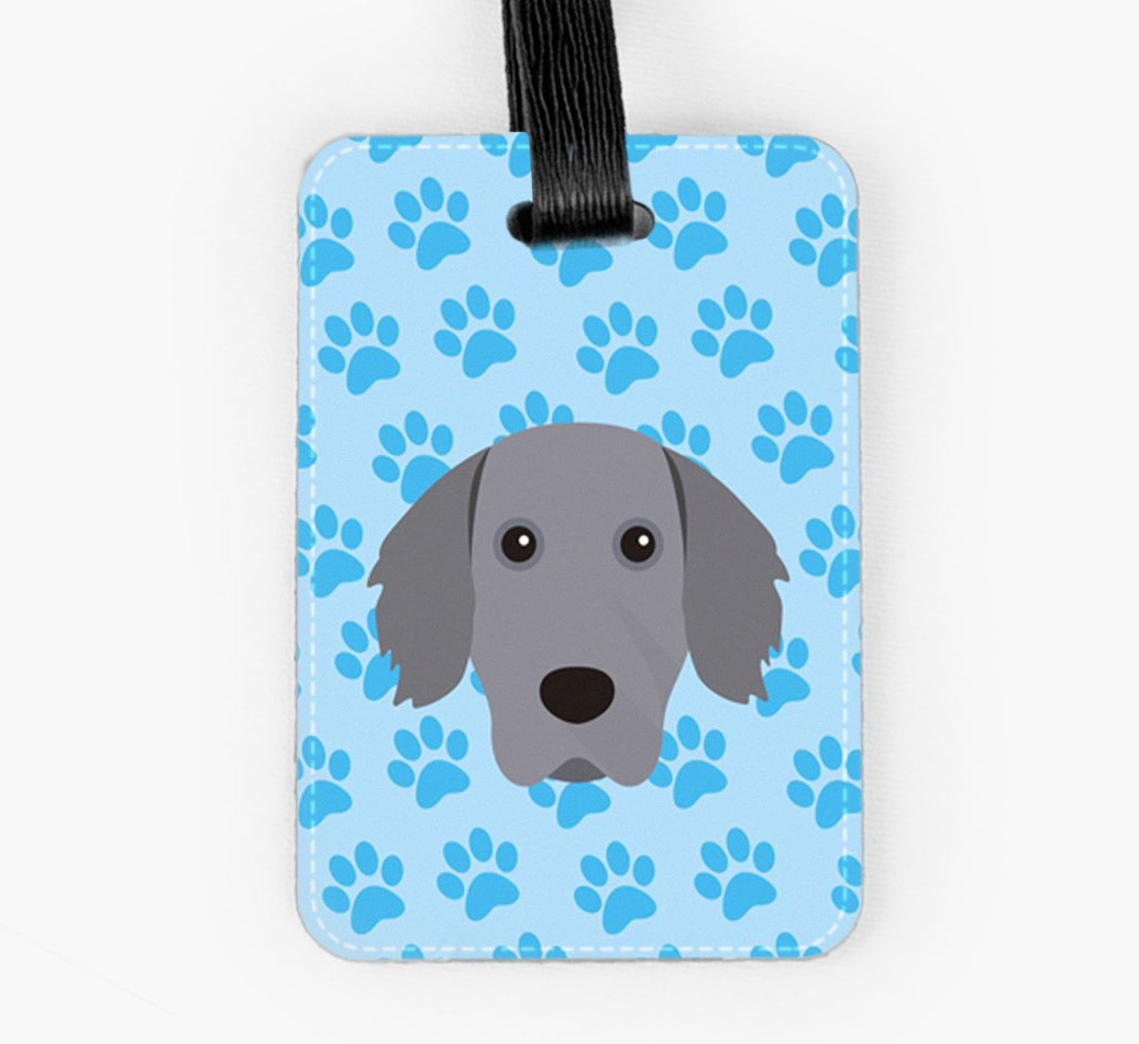 Weimaraner Luggage Tag Front
