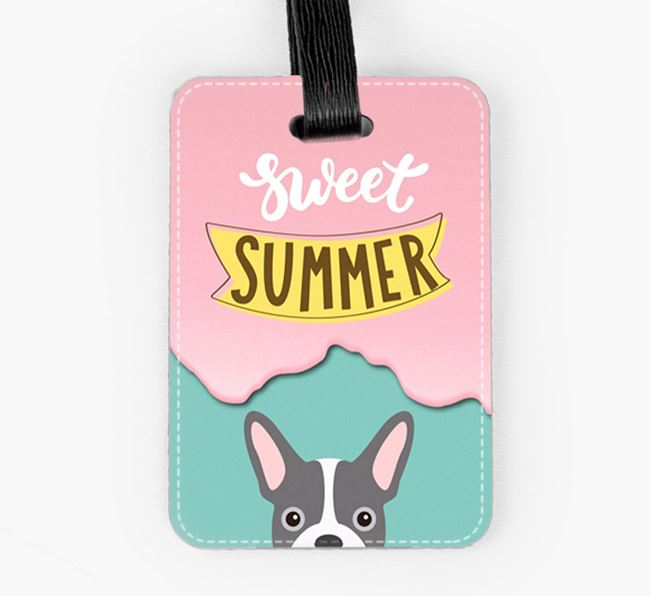 Luggage Tag 'Sweet Summer' with French Bulldog Icon