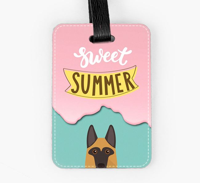 Luggage Tag 'Sweet Summer' with German Shepherd Icon