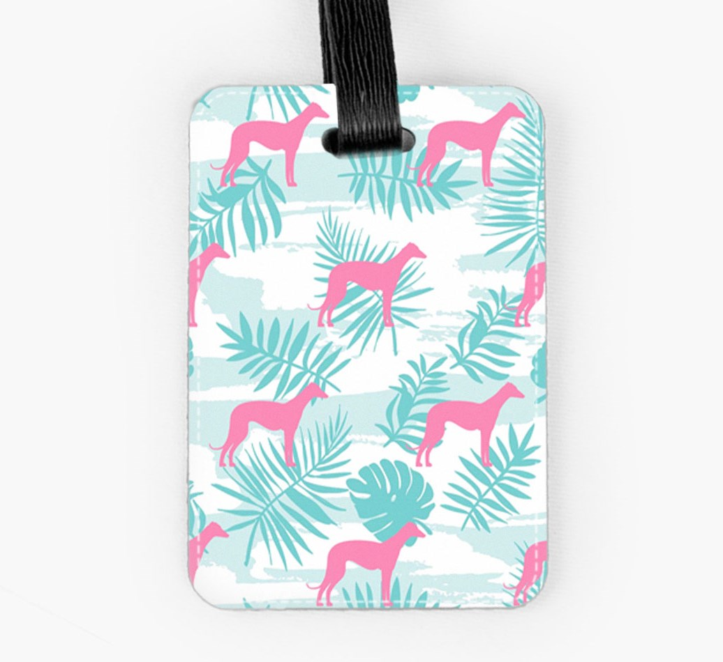 Greyhound Luggage Tag Front