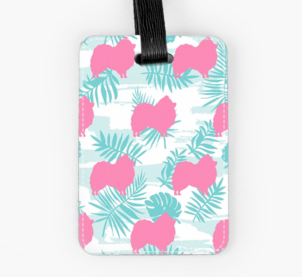 Pomeranian Luggage Tag Front