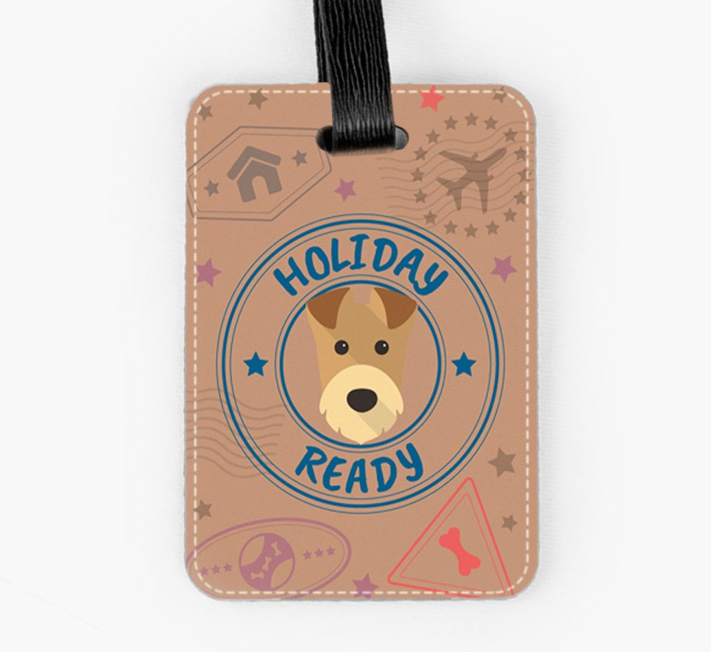 Airedale Terrier Luggage Tag Front