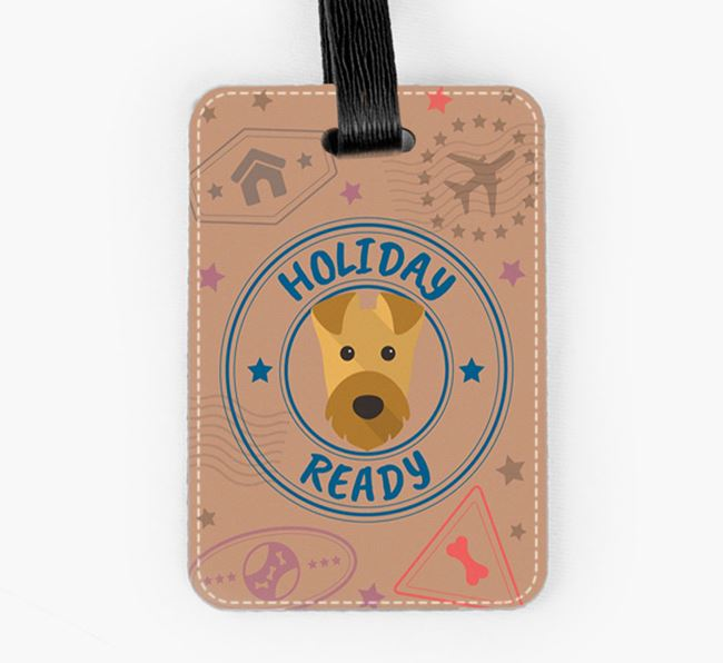 'Holiday Ready' Airedale Terrier Luggage Tag
