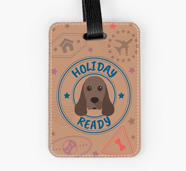 'Holiday Ready' American Cocker Spaniel Luggage Tag