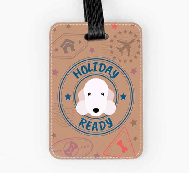 'Holiday Ready' Bedlington Terrier Luggage Tag