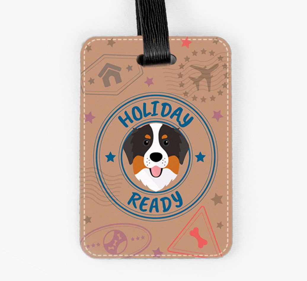 Bernese Mountain Dog Luggage Tag Front