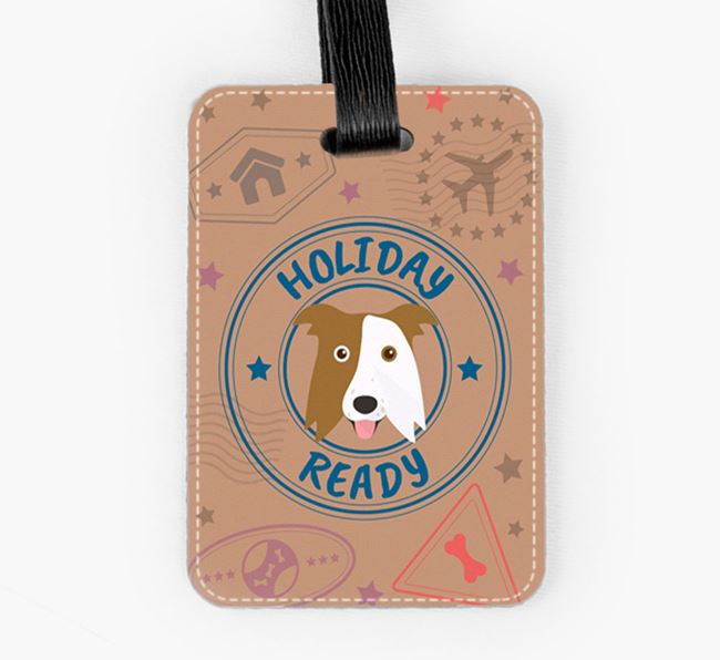 'Holiday Ready' Border Collie Luggage Tag