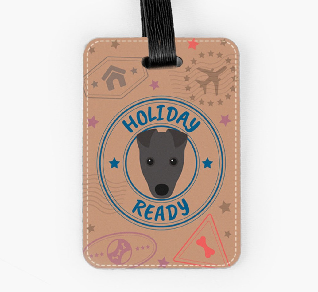 Fox Terrier Luggage Tag Front