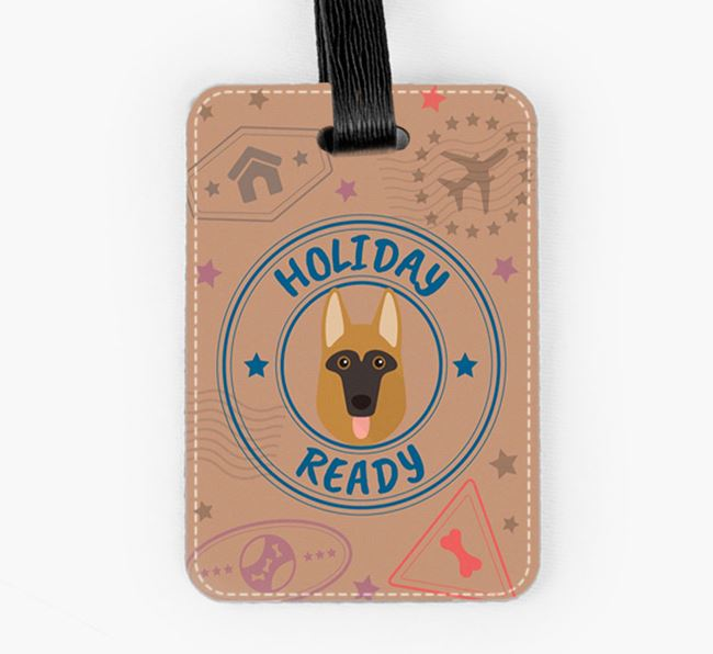 'Holiday Ready' Dog Luggage Tag