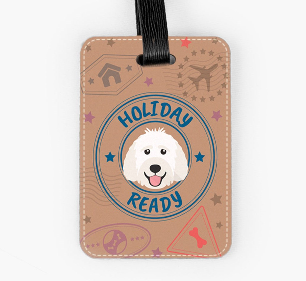 Labradoodle Luggage Tag Front