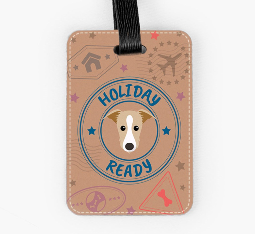Lurcher Luggage Tag Front