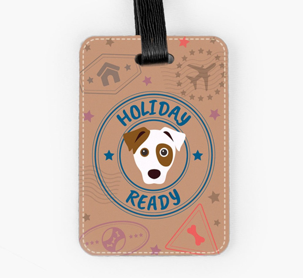 Parson Russell Terrier Luggage Tag Front