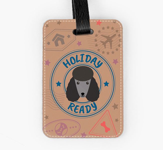 'Holiday Ready' Poodle Luggage Tag