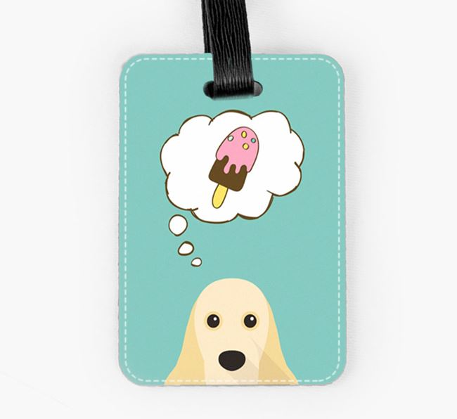 Luggage Tag 'Ice Cream Dream' with American Cocker Spaniel Icon
