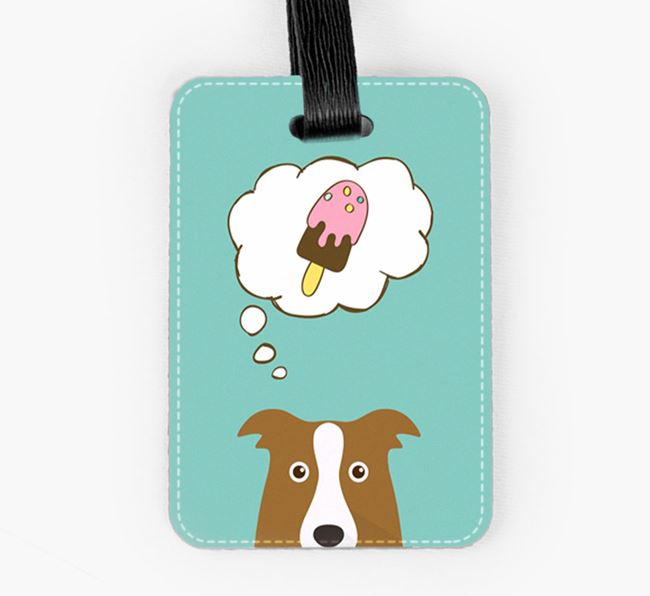 Luggage Tag 'Ice Cream Dream' with Border Collie Icon