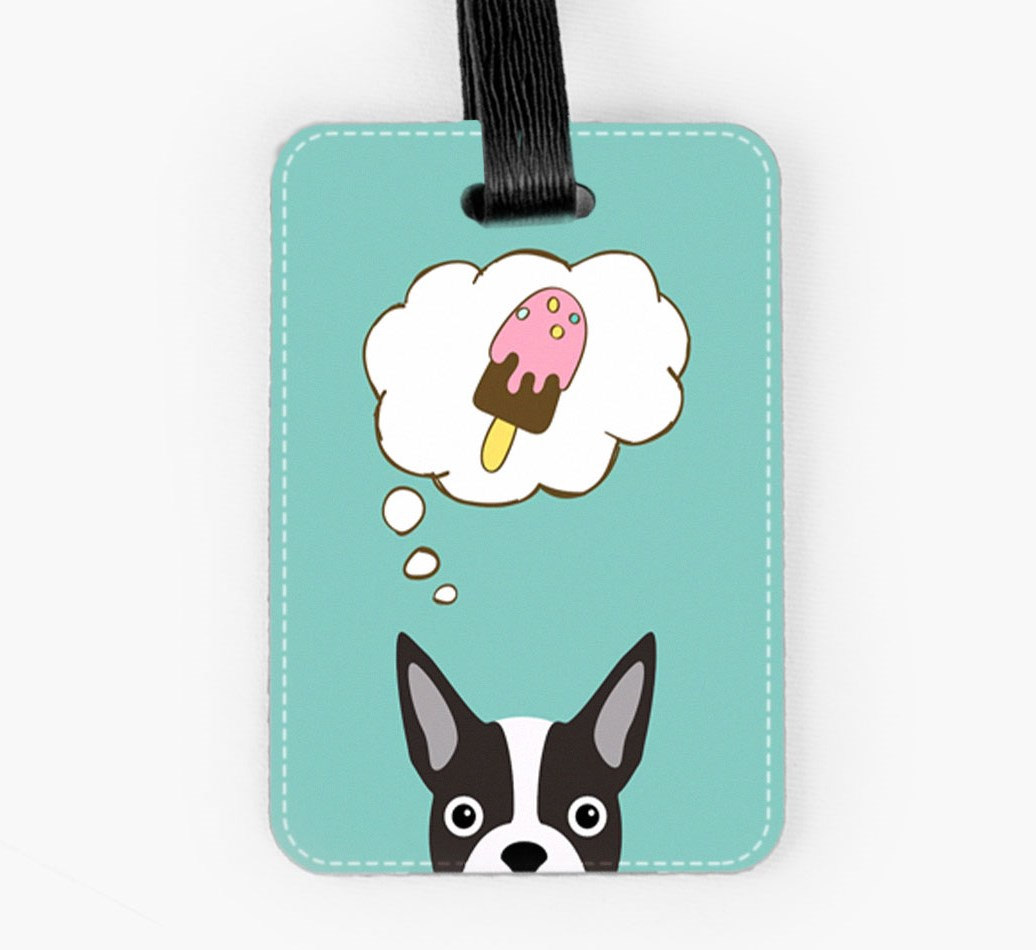 Boston Terrier Luggage Tag Front