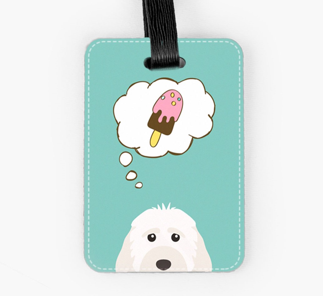 Cockapoo Luggage Tag Front