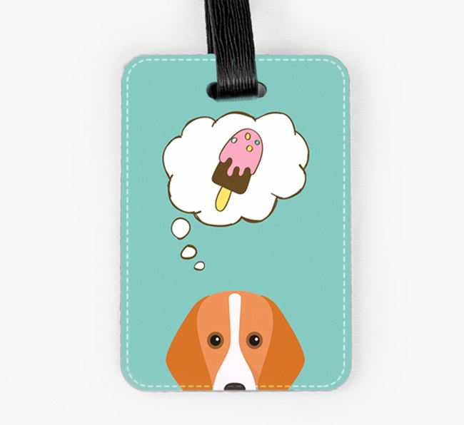 Luggage Tag 'Ice Cream Dream' with Foxhound Icon