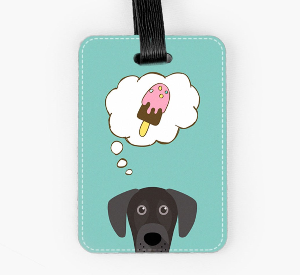 Great Dane Luggage Tag Front