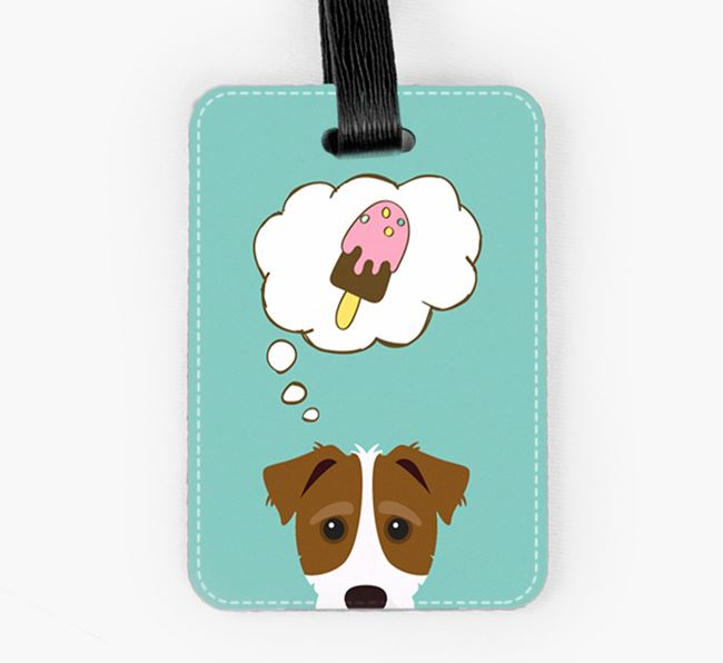 Luggage Tag 'Ice Cream Dream' with Jack-A-Poo Icon