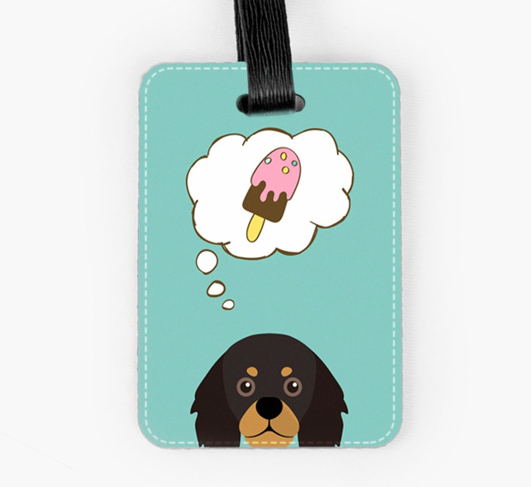 King Charles Spaniel Luggage Tag Front