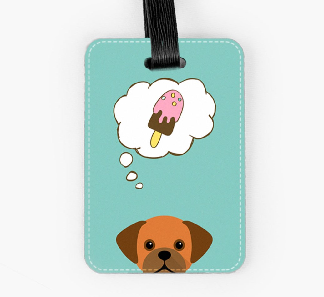 Puggle Luggage Tag Front