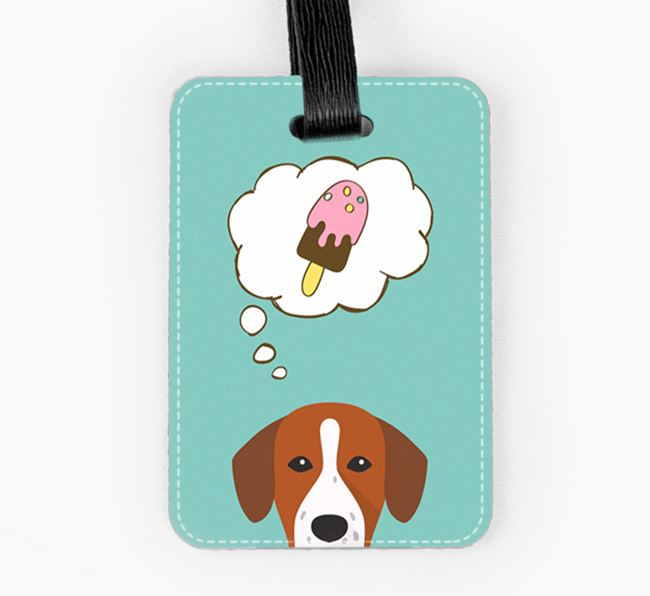 Luggage Tag 'Ice Cream Dream' with Springador Icon