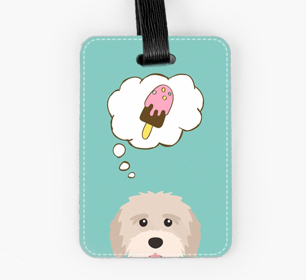 Tibetan Terrier Luggage Tag Front
