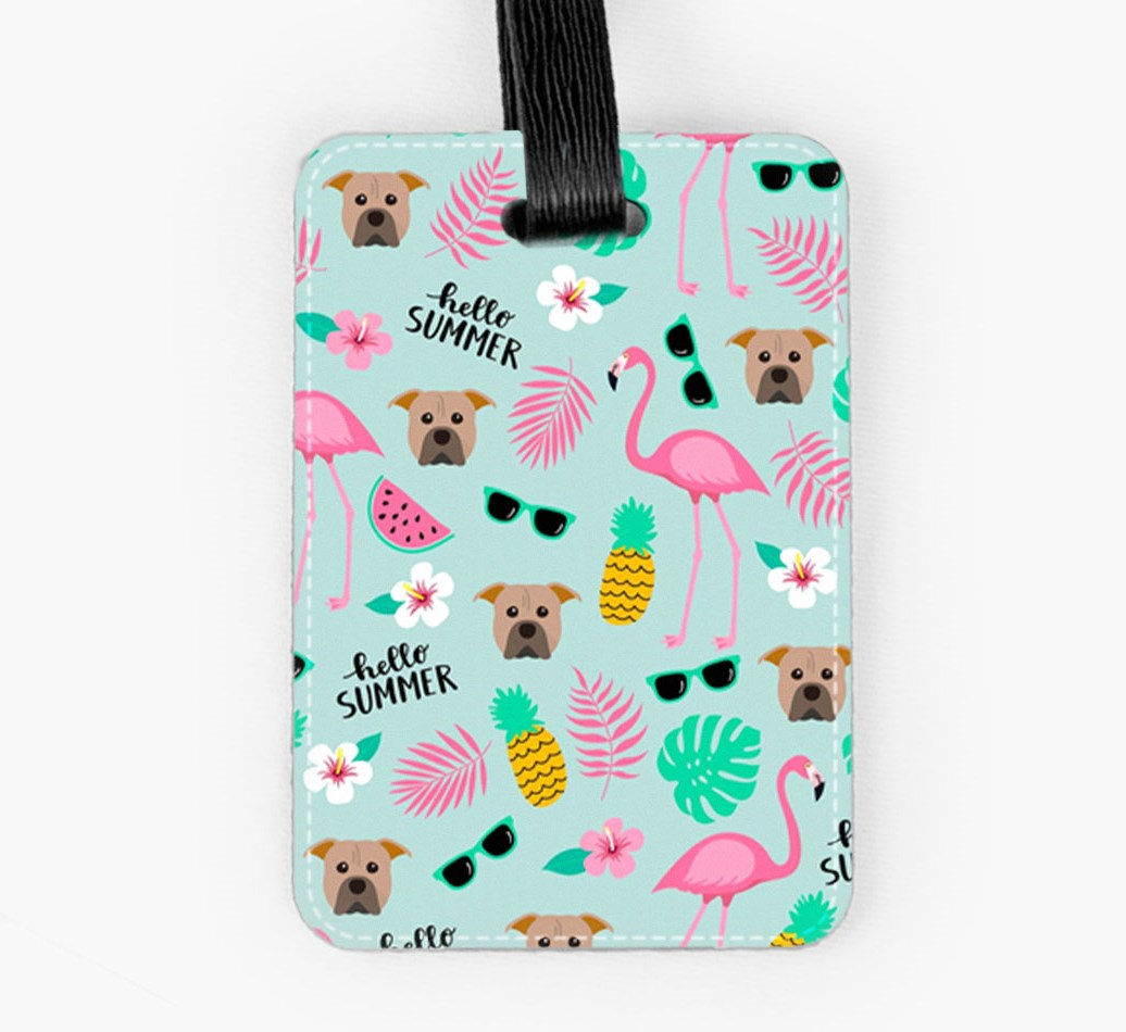 American Pit Bull Terrier Luggage Tag Front